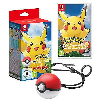 Pokémon: Let's Go, Pikachu! Including Poké Ball (Nintendo Switch) NEW Sealed PAL
