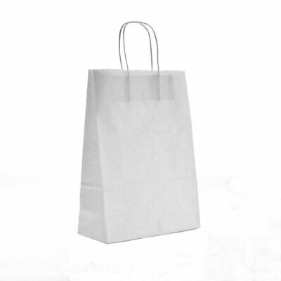 """12x18x16"""" White Premium Twisted Handled Paper Carrier Bags (125/pack) Packaging"""