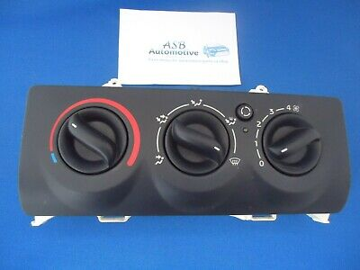 Renault Clio Mk2 2001 - 2006 Complete Heater Controls Panel With Recirculate