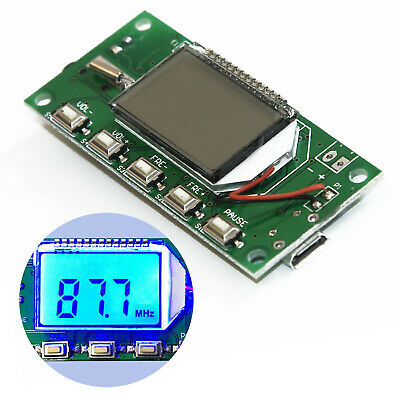 Transmitter Module Digital 87-108MHz Wireless Microphone Stereo FM Mini Display