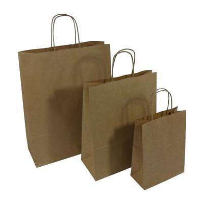 """12x18x16"""" Brown Premium Twisted Handled Paper Carrier Bags (125/pack) Packaging"""