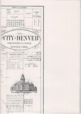 "~~~MAPS~1895 DENVER / LEADVILLE 1913~Historic Reprint~2-sided~18""x25""~Mines~RRs"