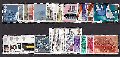 Gb Great Britain 1975 Commemoratives Complete Never Hinged Mint