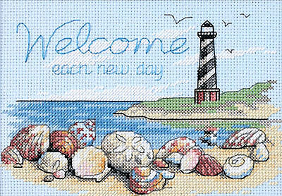 Cross Stitch Mini Kit ~ Dimensions Welcome Each Day Lighthouse #65032