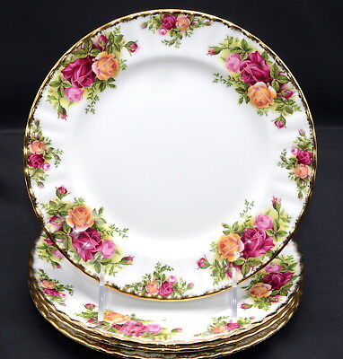 Royal Albert Old Country Roses * 4 SALAD PLATES * England, Excellent