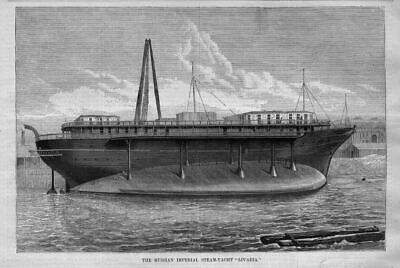 Russian Imperial Navy Flawed Steam Yacht Livadia Experimental Vessel Nautical