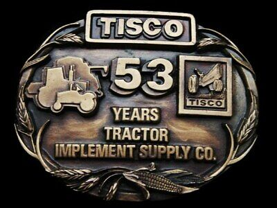 Kf05154 Vintage 1988 **Tisco** Tractor Implement Supply Co. 53 Yrs Belt Buckle
