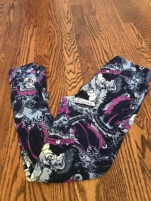 c90a97e4f63b9f NEW LULAROE DISNEY Villains Ursula Maleficient Leggings One Size OS ...