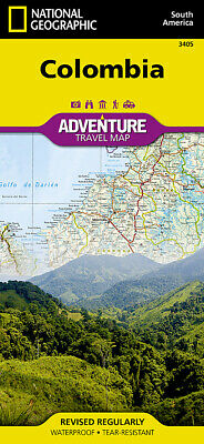 National Geographic Colombia South America Adventure Travel Map--Waterproof 3405