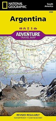 National Geographic Argentina South America Adventure Travel Map  3400