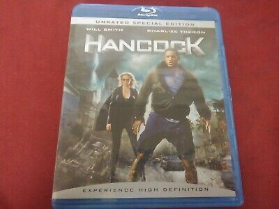 Hancock Will Smith Charlize Theron Unrated Special Edition Bluray Dvd Movie 2008