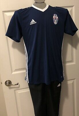 the latest 6bca5 bb997 NEW Adidas Youth ClimaCool Regista 02 Soccer Jersey Shirt SLIM LARGE Blue  White
