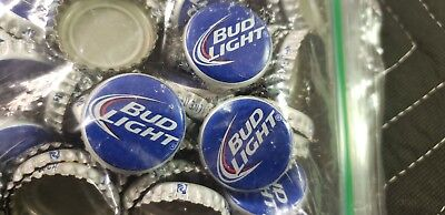 Bud  Light Beer Bottle Caps 100 Crafts Table Tops Collectible No Dents Clean