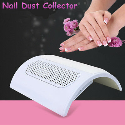 3 Fans Powerful Nail Manicure Dust Suction Collector Fingernail Vacuum Cleaner