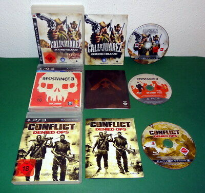 3 Spiele: Resistance 3, Conflict Call of Juarez Bound in Blood PS3 Playstation 3