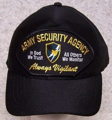 0b9e72b2f94 Embroidered Baseball Cap Military Army Security Agency NEW 1 hat size fits  all