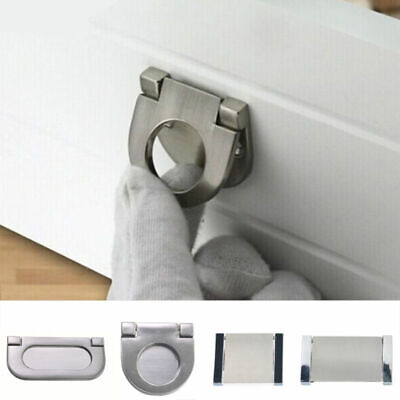 Invisible Flat Handle Kitchen Cabinet Pull Handle Door Drawer Knob Stainless