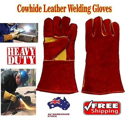 Heavy Duty Leather Welding gloves 14 Inches Heat Proof Fire Resistant gloves