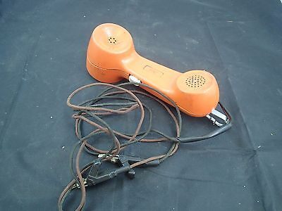 Vintage AT&T / Western Electric Orange Lineman's Rotary Phone Line Butt Phone