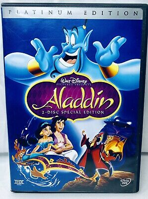 Aladdin Disney's Platinum 2 Disc Special Edition DVD Set - 2004 Release