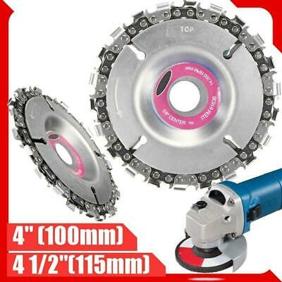 Saw Blade Disc Grinder Chain Plat   4 Inch Angle Wood Carving Circular 22 Teeth