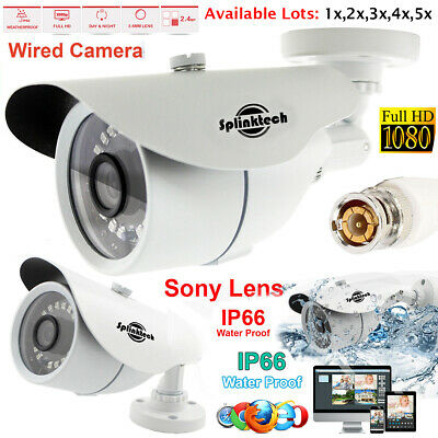 Cctv 2.4Mp Bullet Camera 1080P Hd Ir Home Security System Sony Lens Night Vision
