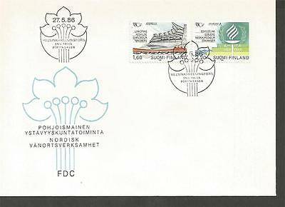 FINLAND -1986 Friendship towns in scandinavia     - F.D. COVER.