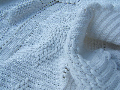 Antique Quilt Bedspread Crochet Bed Cover South French France Knitted Crocheted Antiques