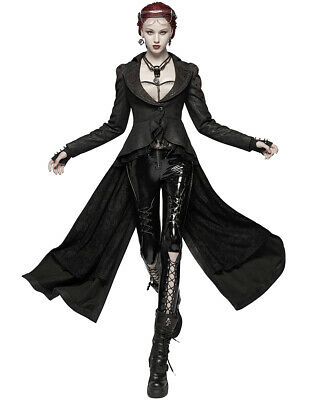 Punk Rave Womens Long Gothic Coat Jacket Trench Dieselpunk Apocalyptic Steampunk