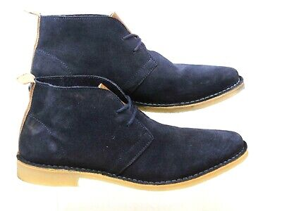 87a9b4375 Mens Red Or Dead Mr Lawrence Navy Suede Lace Up Ankle Chelsea Boots Size 9  Faded