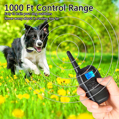 Remote Control Electric Shock Vibrate Pet Dog LCD 100 Level 300M Training Collar