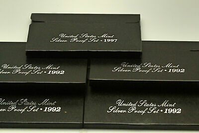 (5) Five 1992-S 90% Silver US Proof Sets in Original US Mint Packaging (NUM3927)