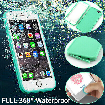 360° Waterproof Dustproof Rubber Phone Case Cover For iPhone X XS Max 6 7 8 Plus