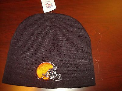 Cleveland Browns Nfl Embroidered Toboggan Knit Vint Beanie Skull Hat Cap 83fe990a9