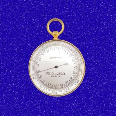 WW1 German Aviators Altimeter Pocket Watch Barometer by Paetz &  Flohr 1914