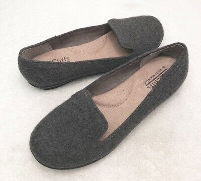c42e0871b84 Womens Size 6 CLIFFS by White Mountain Gray Fabric Loafer Ballet Flats Shoes