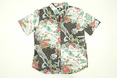 f138d970 Reyn Spooner Hawaiian Status Ocean Tailored Fit Short Sleeve Button Front  Shirt