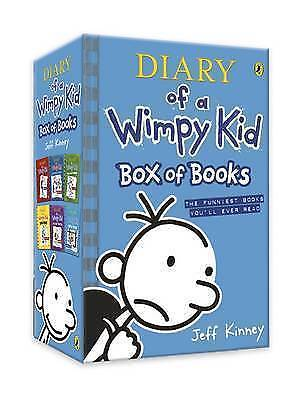 Diary of a Wimpy Kid: Box of Books (books 1-6) by Kinney, Jeff, Paperback Book,