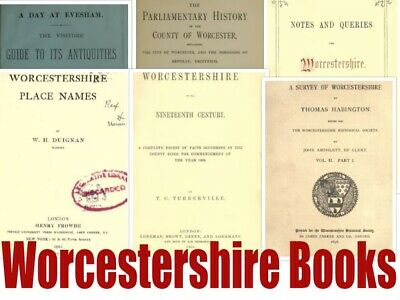 188 Worcestershire Books Genealogy Registers History Vintage Books on Disc