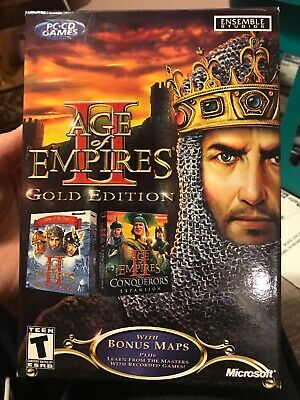AGE OF EMPIRES PC Lot Gold Edition The Conquerors Exp