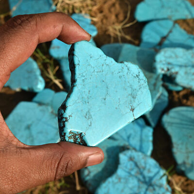Natural Turquoise Rough 250-300 Ct. Stabilized Mine Blue Kingman Loose Gemstone