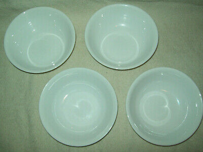"""Corning Corelle Livingware Winter Frost White Set of 4 Soup/Cereal Bowls 6 1/4"""""""