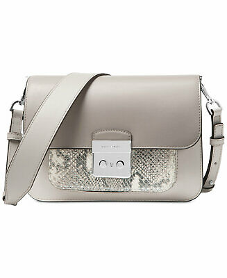 MICHAEL Michael Kors Sloan Editor Small Leather Shoulder Bag Pewter Grey