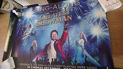 Sing-Along With The Greatest Showman (2018) Original Uk Quad Cinema Poster