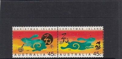 CHRISTMAS IS  1999  Year of the RABBIT design set pair  MNH