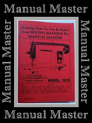 JONES BROTHER Model 1610 Sewing Machine Instructions Manual Booklet