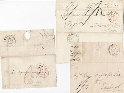 # 1822/40 3 Diff Postage Rates 3 Inverness Wrappers 1 To Her Majestys Librarian