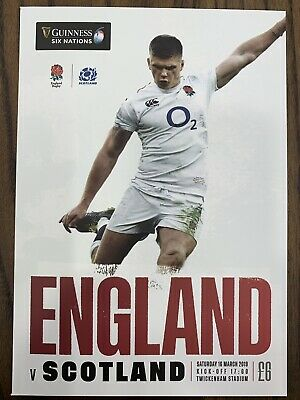 NEW GUINESS SIX NATIONS 2019 ENGLAND v SCOTLAND Rugby Union Programme £6 16/3/19