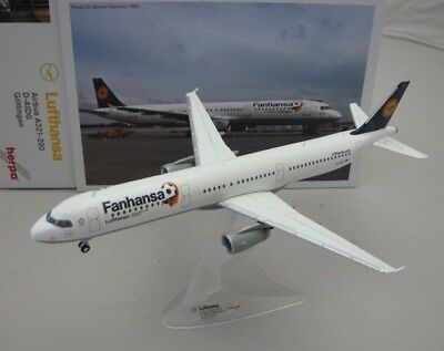 Flugzeugmodell Herpa Wings 1:200 Lufthansa Airbus A321-200 Fanhansa