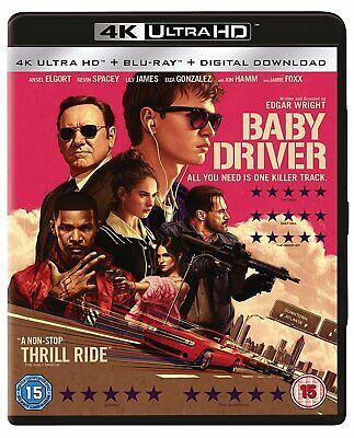 Baby Driver 4K UHD + Blu-ray UK release with slipcover